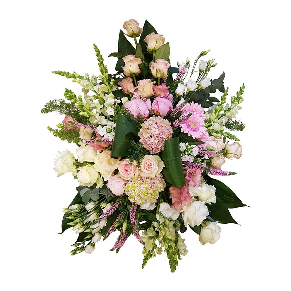 rouwstuk zacht roze