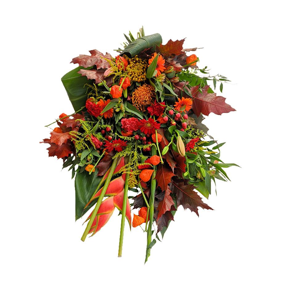 rouwboeket herfstkleuren