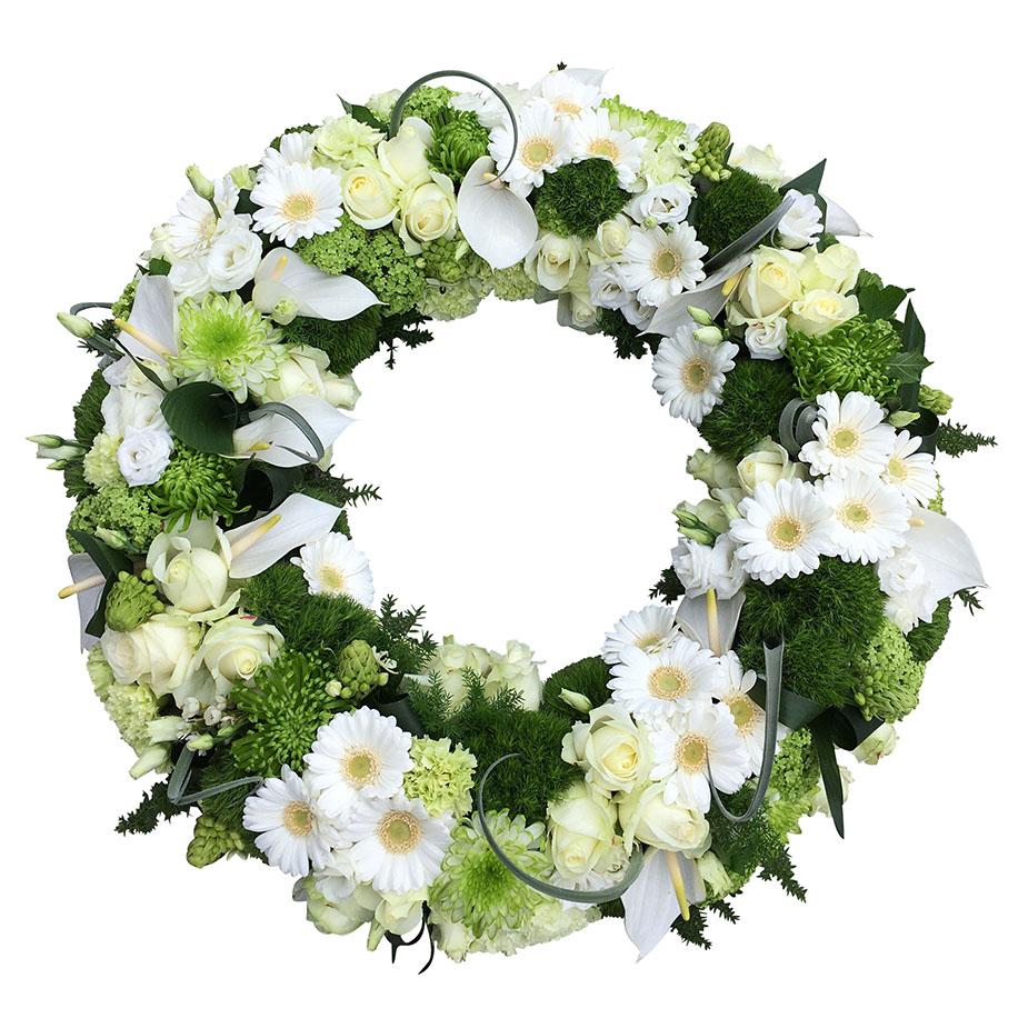 rouwkrans wit
