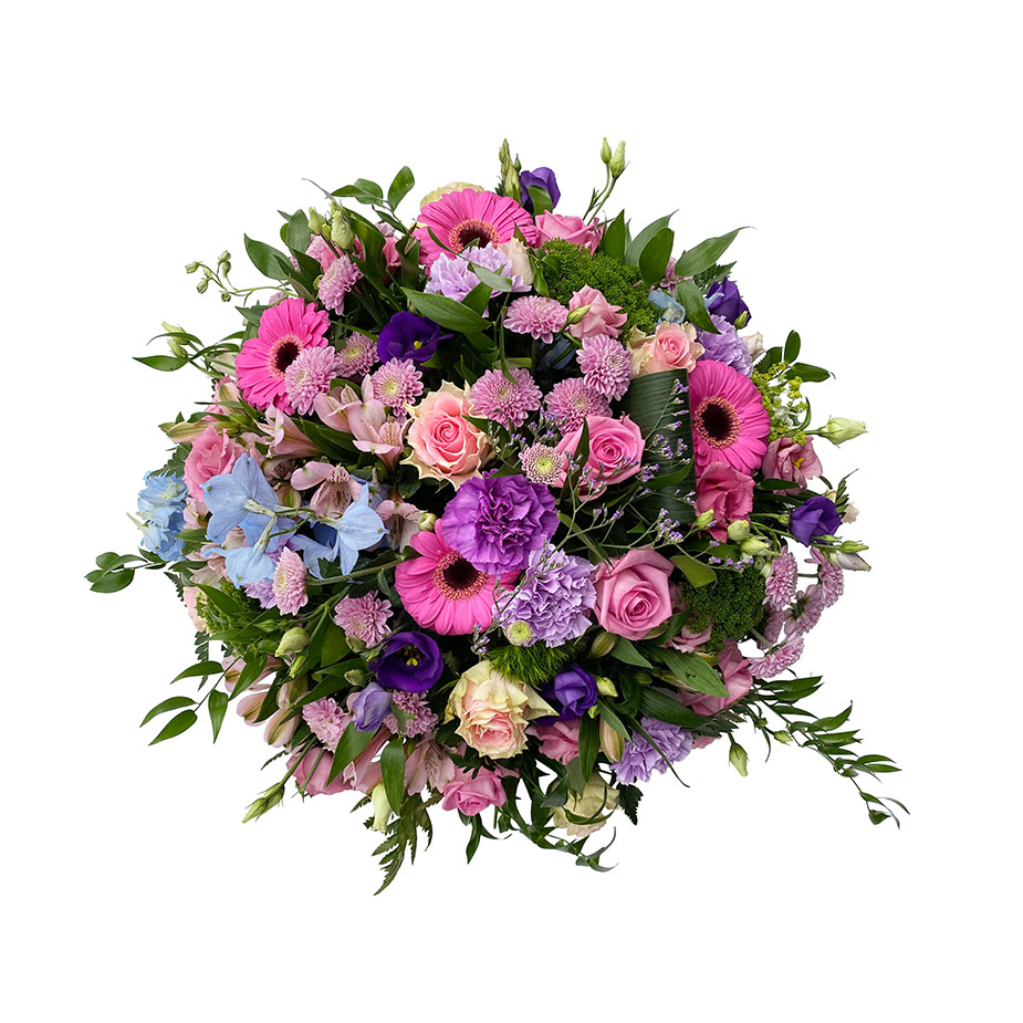 rouwbiedermeier roze lila
