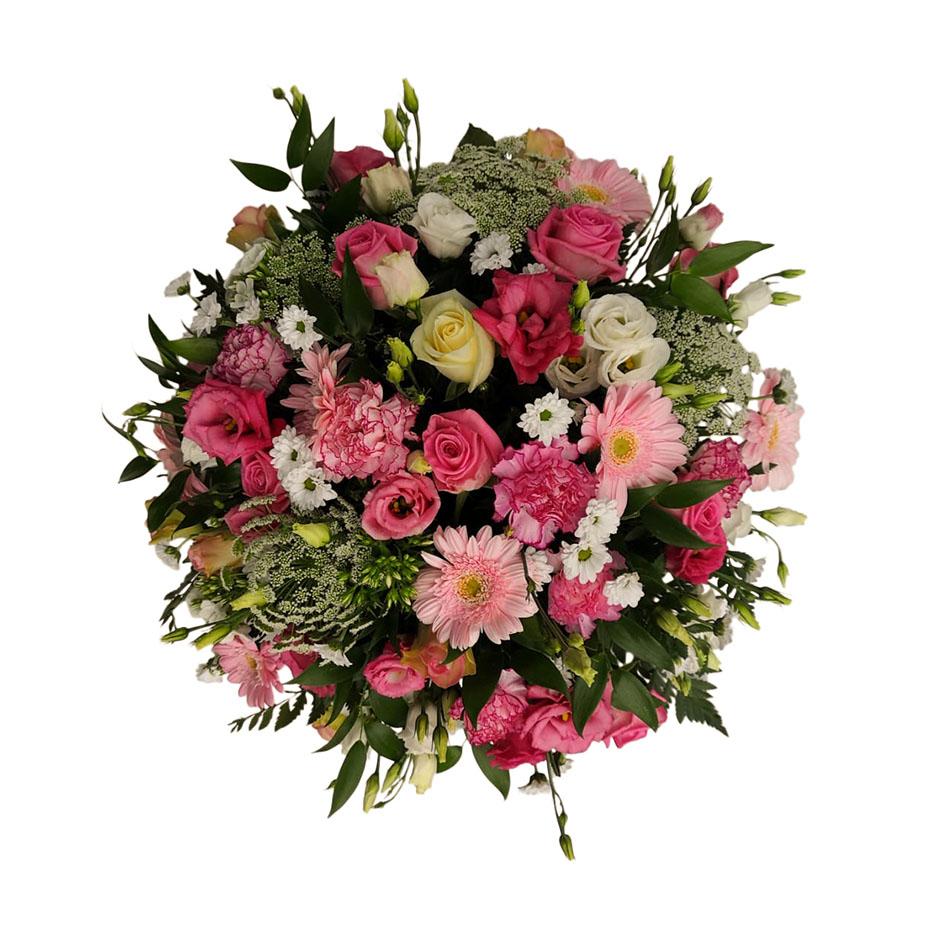 rouwbiedermeier roze wit
