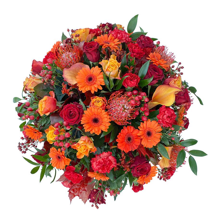 rouwbiedermeier oranje rood