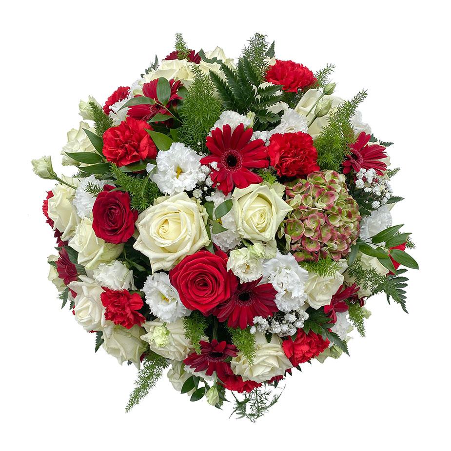 rouwbiedermeier rood wit