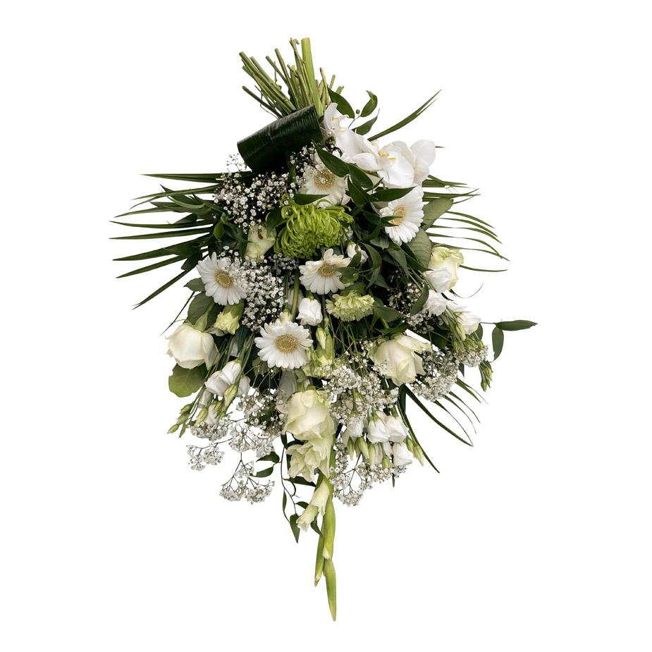 rouwboeket wit bloemen