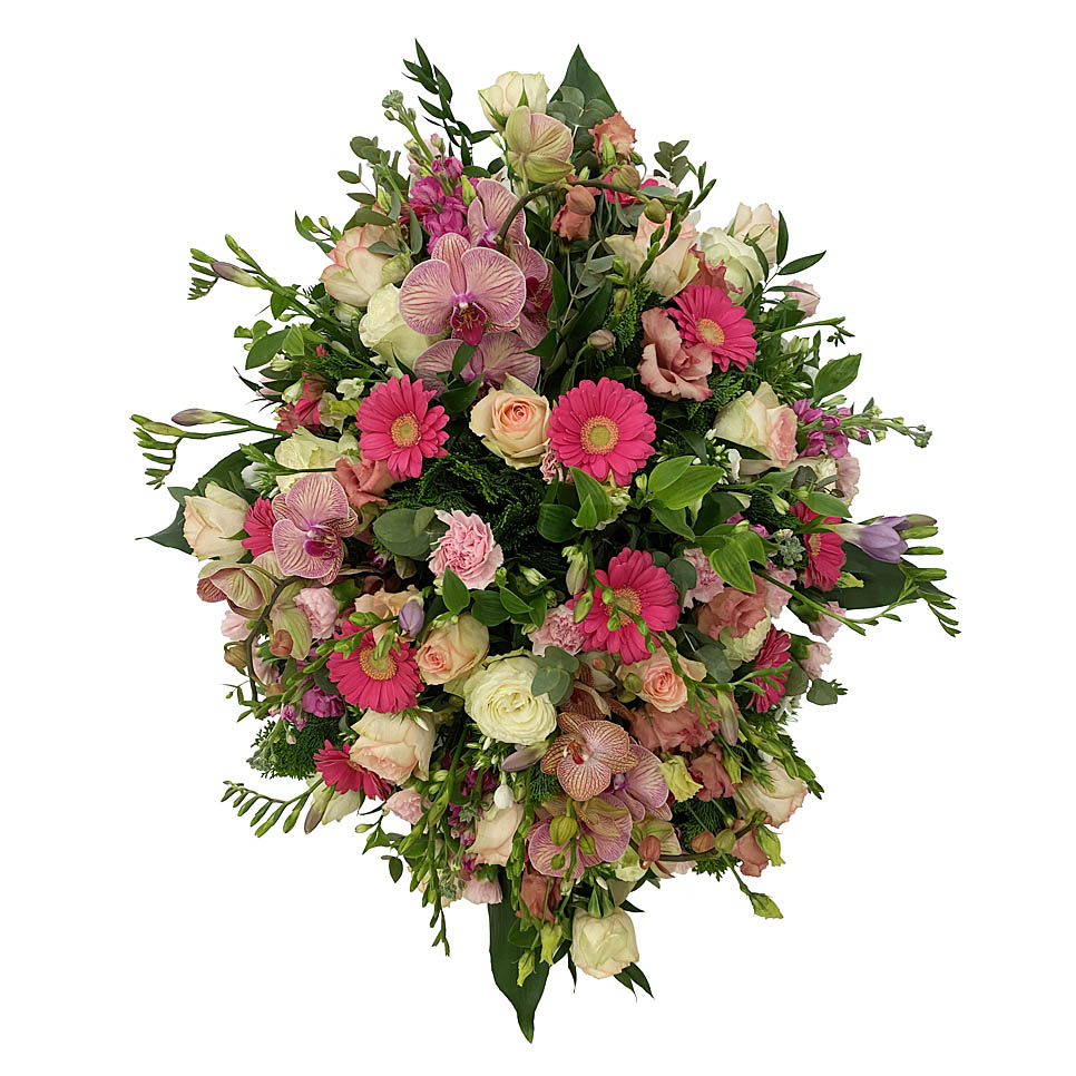 rouwstuk roze zalm